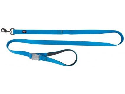 Neonové vodítko se svítící karabinou S L 1,2 1,8m 25mm modré