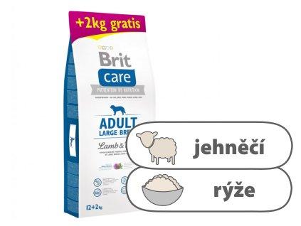 Brit Care Adult Large Breed Lamb & Rice 12 + 2kg ZDARMA
