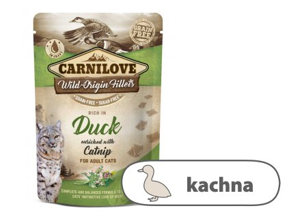 Carnilove Cat Pouch Rich in Duck Enriched with Catnip 85g