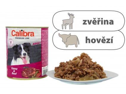 Calibra Game and Beef štítek