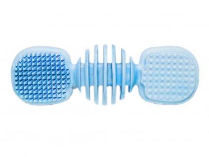 Dentální kartáč s příchutí vanilky pro psa - 14 cm, modrá