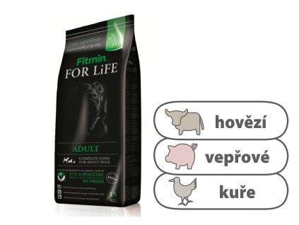 Fitmin For Life Adult kompletní krmivo pro psy 15 kg