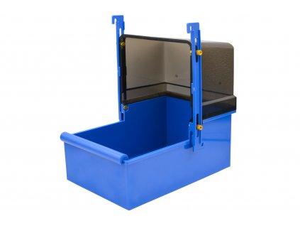 Koupelna pro papoušky – velká, hranatá 23 x 15 x 26 cm - modrá