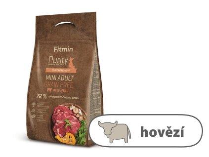 Fitmin Purity Adult Mini Beef Grain Free kompletní krmivo pro psy 4 kg