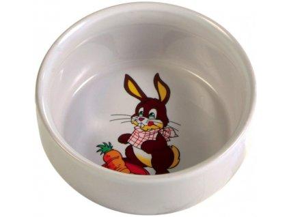 Keramická miska pro králíka s obrázkem 250 ml 11 cm