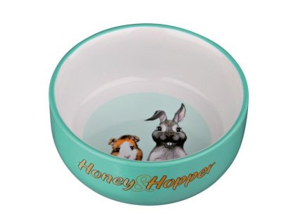 Keramická miska Honey Hopper pro morče, králíka 250ml 11cm