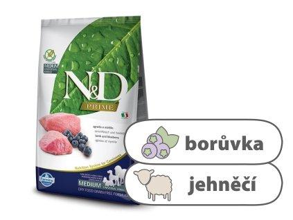 N&D PRIME DOG Adult M L Lamb & Blueberry 2,5 kg