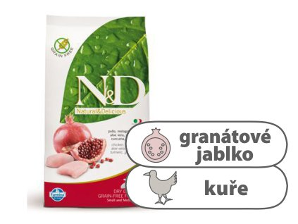 N&D GF DOG Puppy SM Chicken & Pomegranate 800g