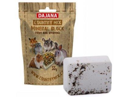 dajana country mix mineral block fruit vitamins ovocny mineralni kamen pro hlodavce