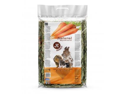 34024 jk animals seno natural hay with carrot 0 5 kg 1