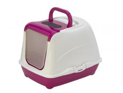 Krytá kočičí toaleta FLIP CAT large - růžová
