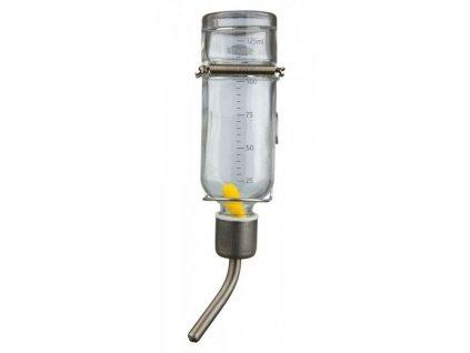 Skleněná napáječka pro křečky 125 ml s úchytem na klec
