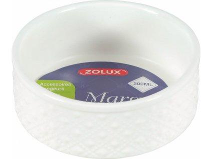 Miska keramická MARGOT hlodavec – 200 ml, bílá