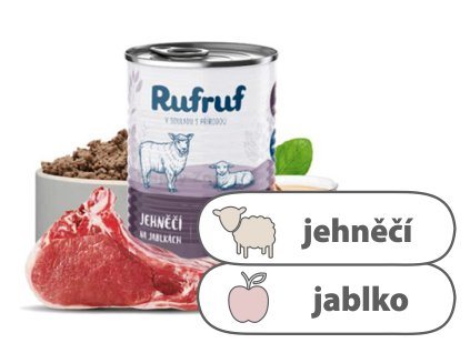 Rufruf Farmářská konzerva Jehněčí na jablkách 400 g