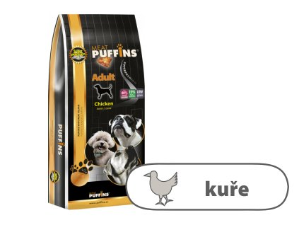 Puffins Adult Chicken, Lamb & Tuna 15 kg