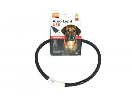Visio Light svítící obojek 20 – 75 cm, černý