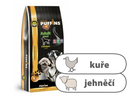 Puffins Adult Maxi Chicken & Lamb 1 kg