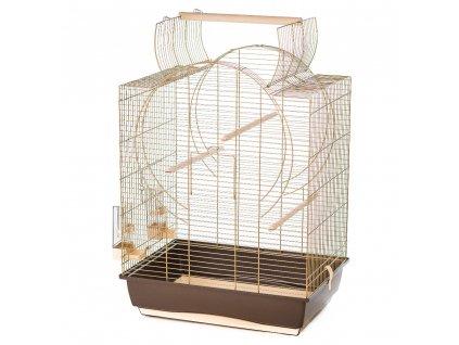 Klec EMMA pro ptactvo– cabrio III, zlatá