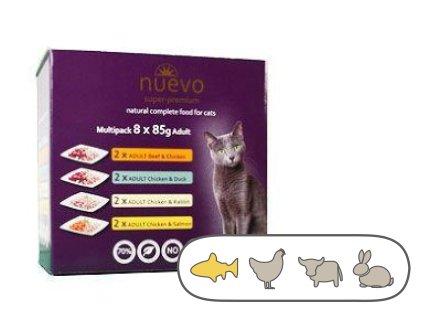 Nuevo kočka kapsa – Adult Multipack 8 x 85 g