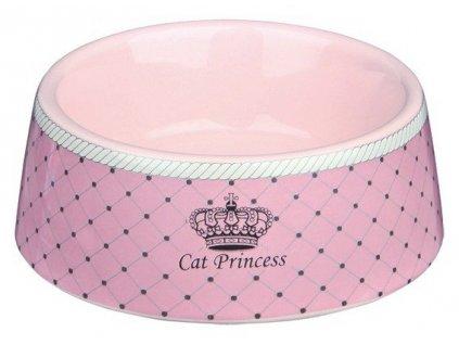 CAT PRINCESS keramická miska růžová 0,18 l (12 cm)