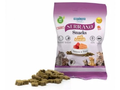 Serrano Snack for Cat AntiHairball — Salmon & Tuna 50 g