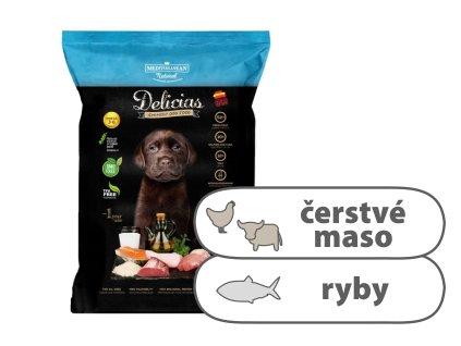 Delicias Puppy Adult Soft — poloměkké krmivo 800 g