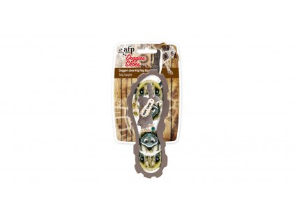 Hračka pantofel AFP Doggies Shoes — žabka s obrázkem divokého prasete