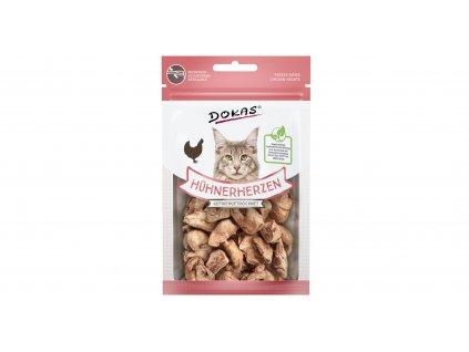 Dokas - Mrazem sušená kuřecí srdíčka pro kočky — 15 g
