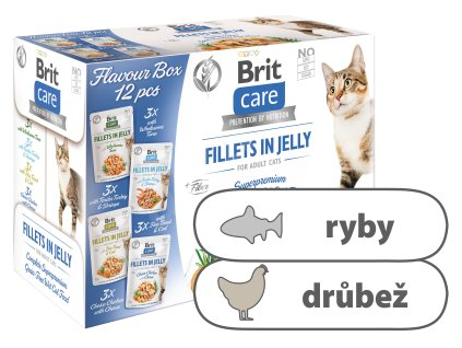 Brit Care Cat Fillets in Jelly Flavour box – 12 x 85 g