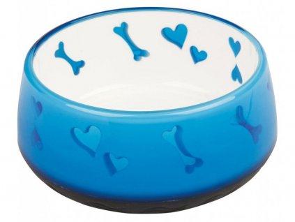 Lovely Dog těžká plastová miska pro psy 0,9 l (18 cm) – modrá