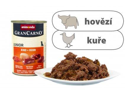 Animonda Grancarno Junior - konzerva hovězí + kuřecí 400 g