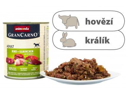 Animonda Grancarno Adult - konzerva hovězí + králík 800 g