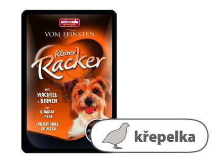 VF kapsička KLEINER RACKER — křepelka + hruška 85 g pro psy