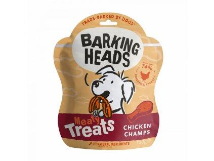Barking Heads Meaty Treats Chicken Champs 100 g | Poloměkké pamlsky pro psy s kuřecí příchutí | Krmiva u Toma