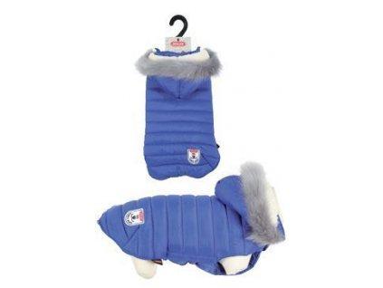 Obleček prošívaná bunda pro psy URBAN modrá 25 cm Zolux