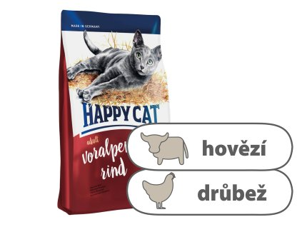 Happy Cat Adult Voralpen Rind 1,4 kg
