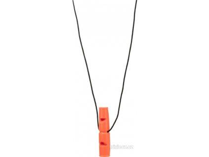 Píšťalka plastová, dvojitý tón, 7,5cm 2