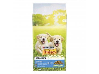 Purina Friskies Junior s kuřetem, mlékem a zeleninou 15 kg   Krmiva u Toma