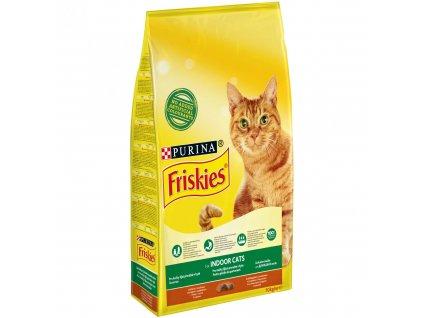 Purina Friskies Indoor Cats s kuřetem a zeleninou 10 kg   Krmiva u Toma