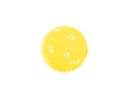 Beeztees míček CRAZY - kotě 5 cm, žlutá