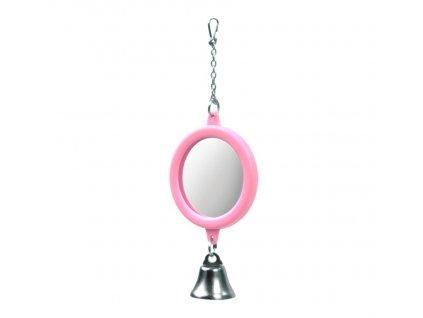 Kulaté zrcátko se zvonkem, růžová