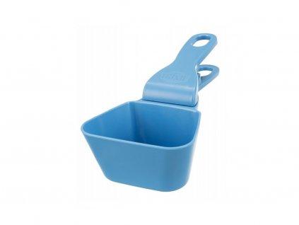 Lopatka na krmivo s klipsem na uzavření pytle 250 ml, modrá