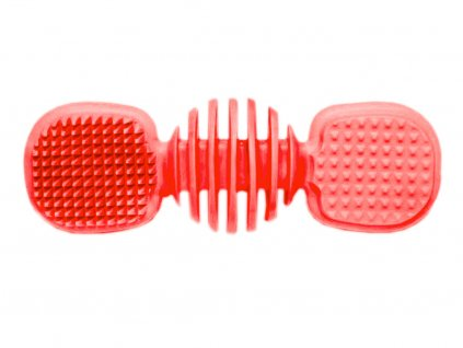 Dentální kartáč s příchutí vanilky pro psa - 14 cm, červená