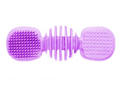 Dentální kartáč s příchutí vanilky pro psa 14 cm, fialová