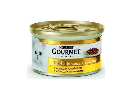 Purina Gourmet Gold konzerva hovězí + kuře 85 g | Krmiva u Toma