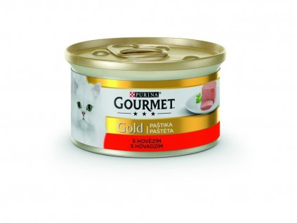 Purina Gourmet Gold hovězí paštika 85 g | Krmiva u Toma