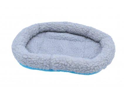 Vlněný pelíšek – pro morče – 30 x 22 cm, šedá/ modrá