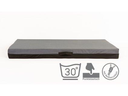 Matrace 2XL, šedá – 10 cm vysoká, 89 x 62 cm
