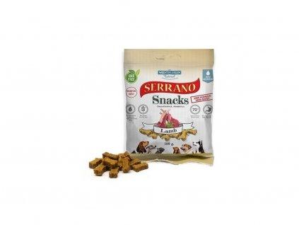 Serrano Snack Meditky jehněčí 100g tréninkové kostičky