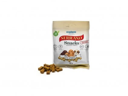 Serrano Snack Meditky pro štěňata 100g tréninkové kostičky